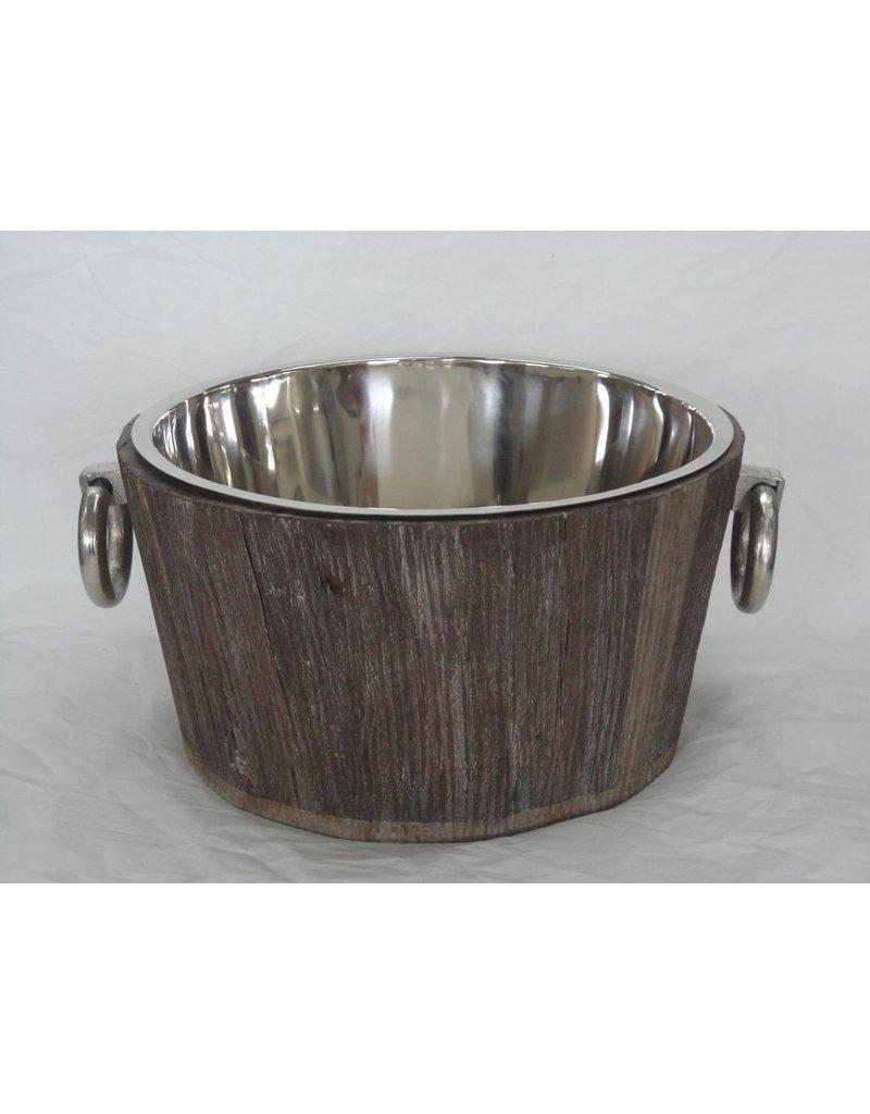 BIDK Home Tub Round Nickel Plated