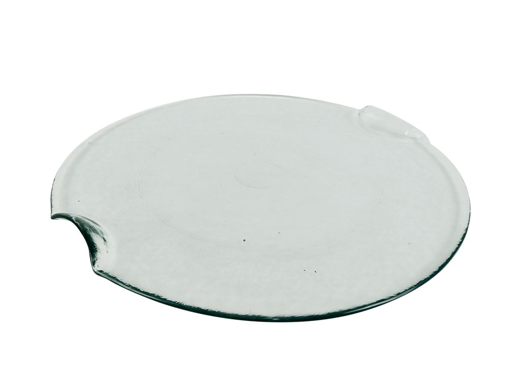 Recycled Glass Piazza Plate<br /> <br /> Recycled Glass Pizza Plate Set of 6