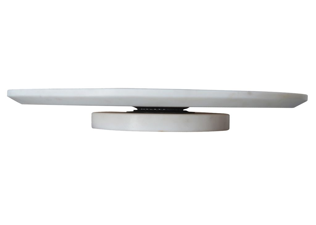 Small White Marble Lazy Susan