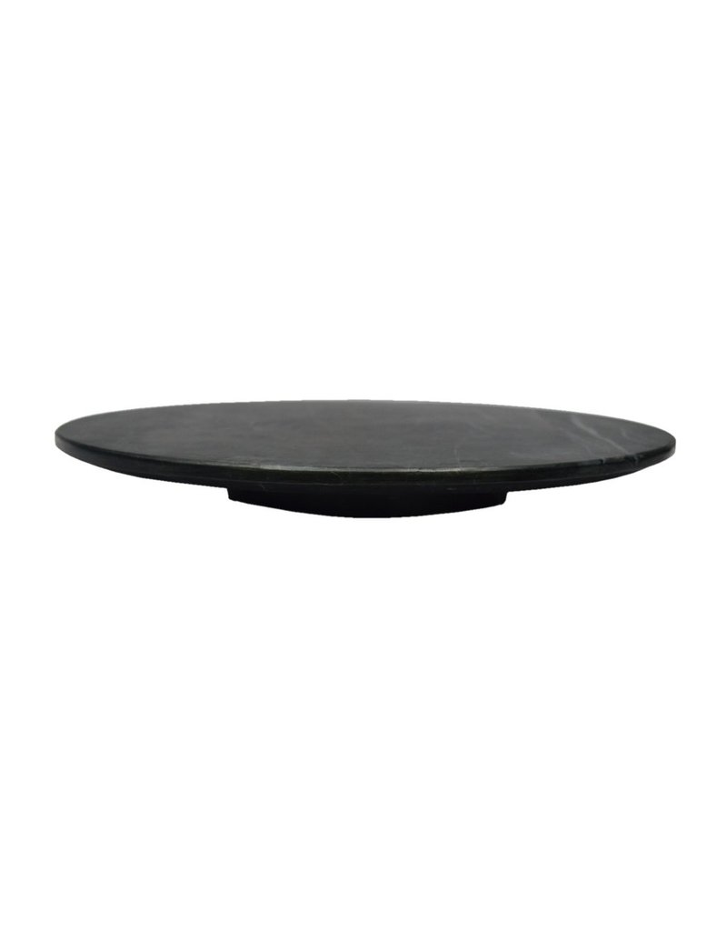 BIDK Home Small Black Marble Lazy Susan