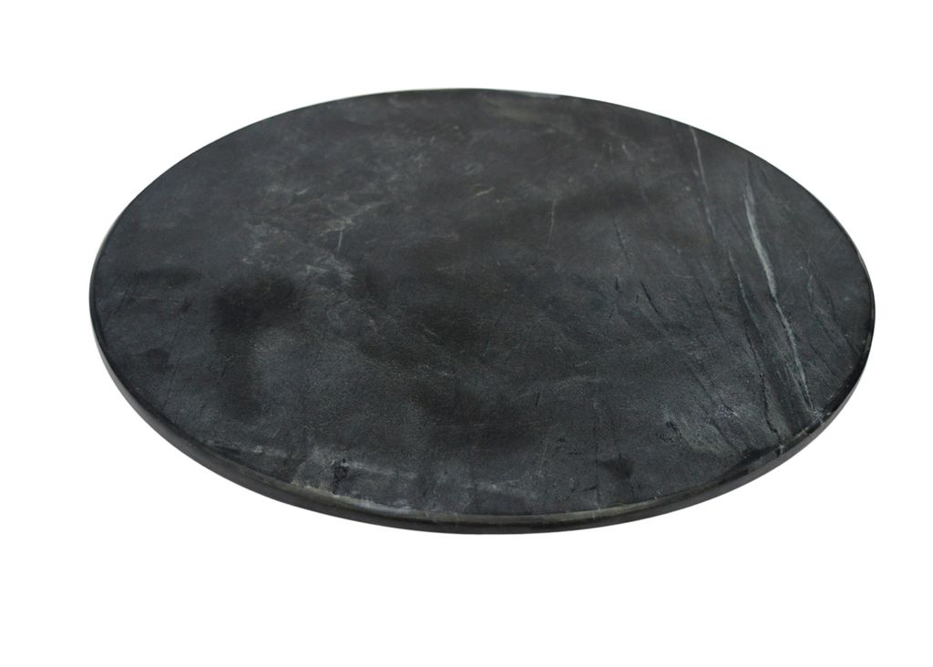 Small Black Marble Lazy Susan