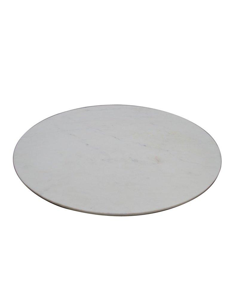 bidk home large white marble lazy susan