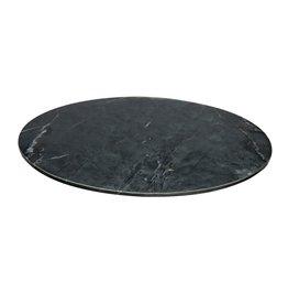 bidk home large black marble lazy susan