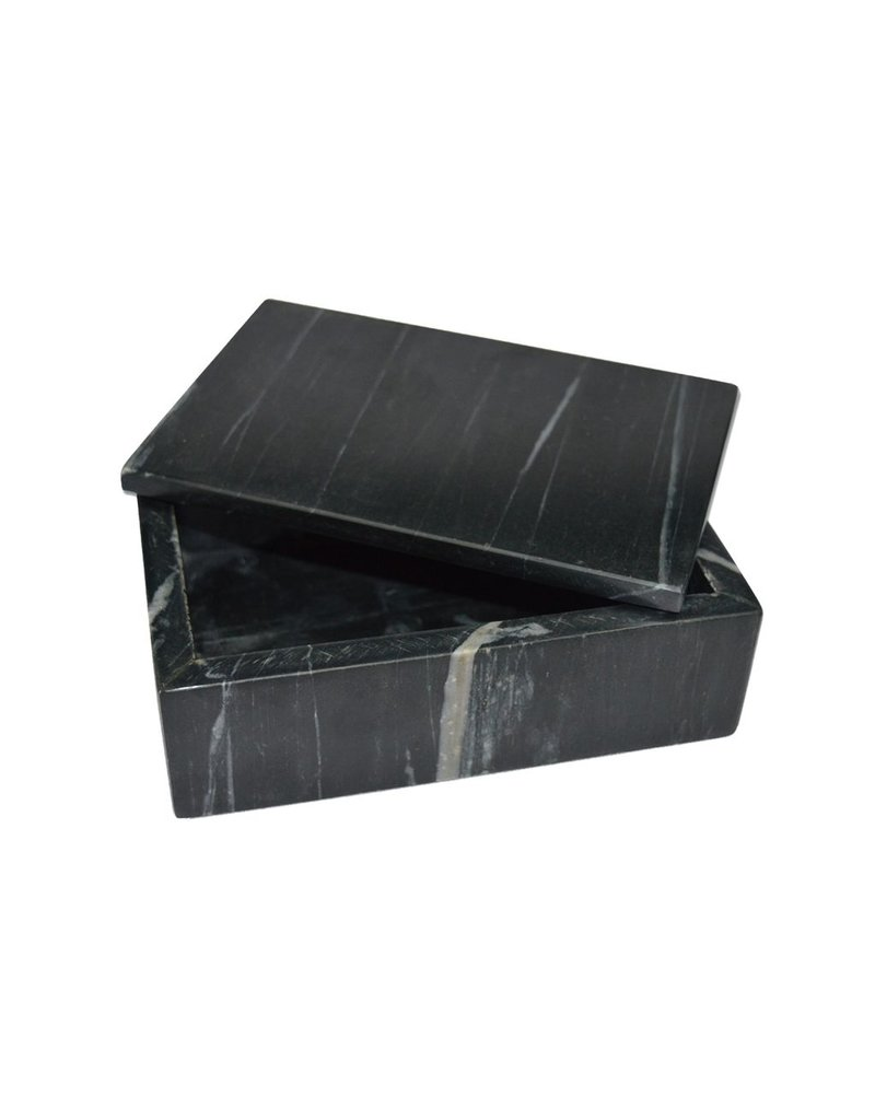 BIDK Home Marble Rectangle Box - Black