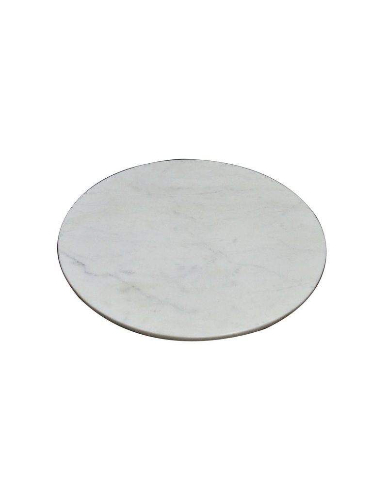 BIDK Home Marble Charger Plate - White