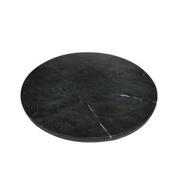 BIDK Home Marble Charger Plate - Black