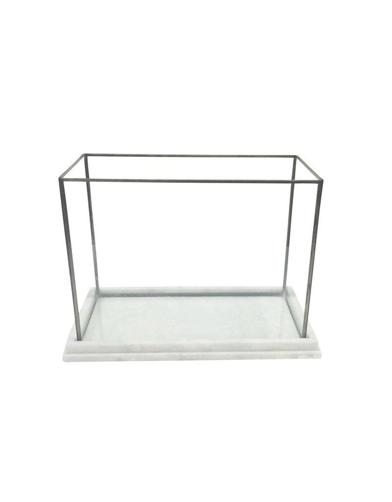 BIDK Home Marble Glass & Iron Display Box/Terrarium