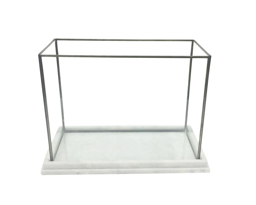 Marble Glass & Iron Display Box/Terrarium