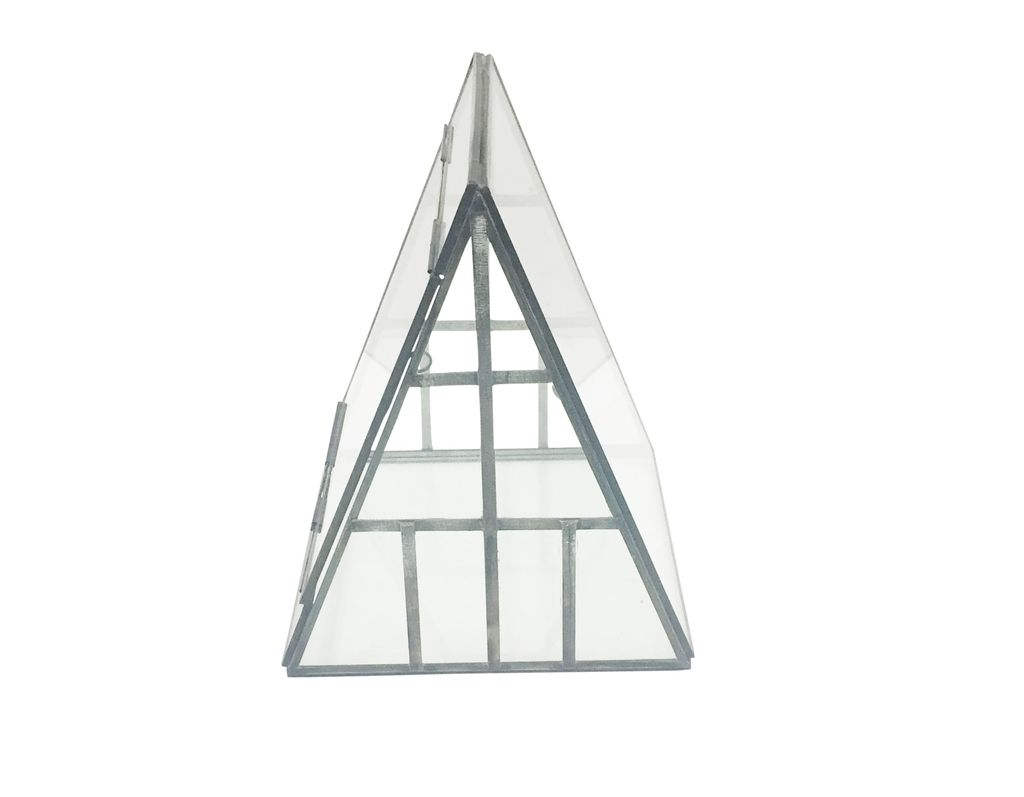 Iron &amp; Glass A-Frame Terrarium<br /> <br /> Iron &amp; Glass A-Frame Terrarium