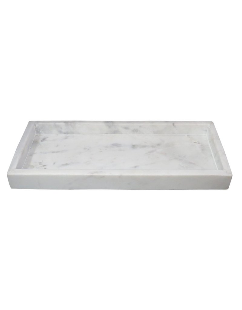 BIDK Home Small Marble Tray High Wall Agra White<br /> <br /> Sm. Rect. Marble Tray High Wall Agra White<br /> <br /> Sm. Rect. Marble Tray High Wall Agra White