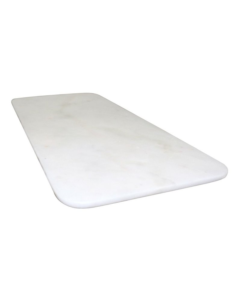 BIDK Home Marble Long Oval Tray With Feet
