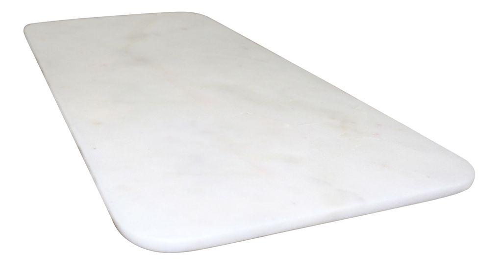 Marble Long Oval Tray W/Feet