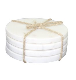 Set Of 4 Marble Round Coasters
