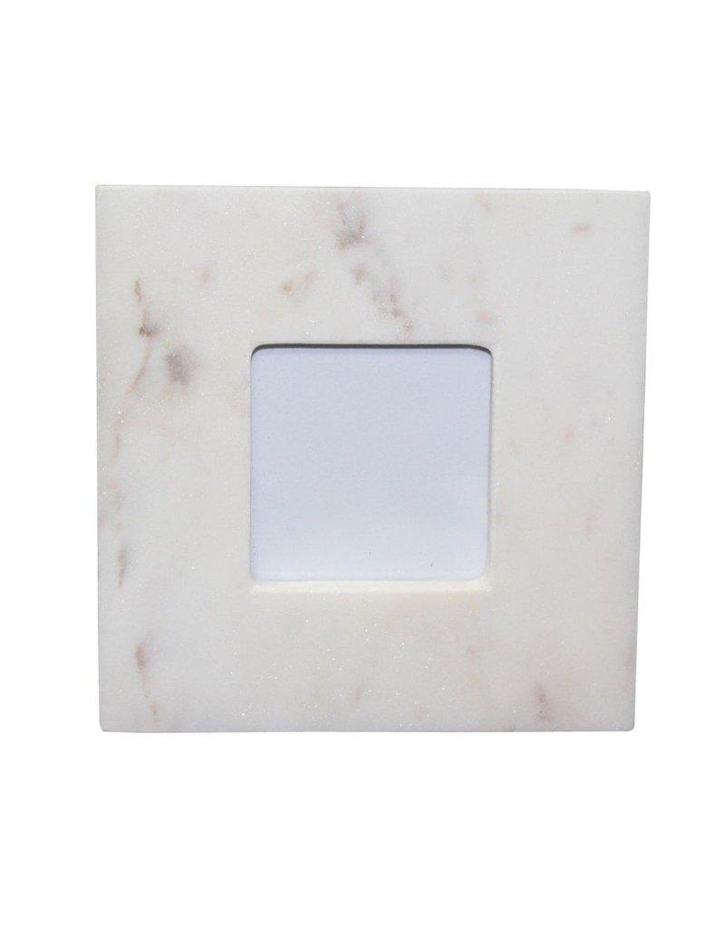 BIDK Home Small 3X5 Marble Frame White
