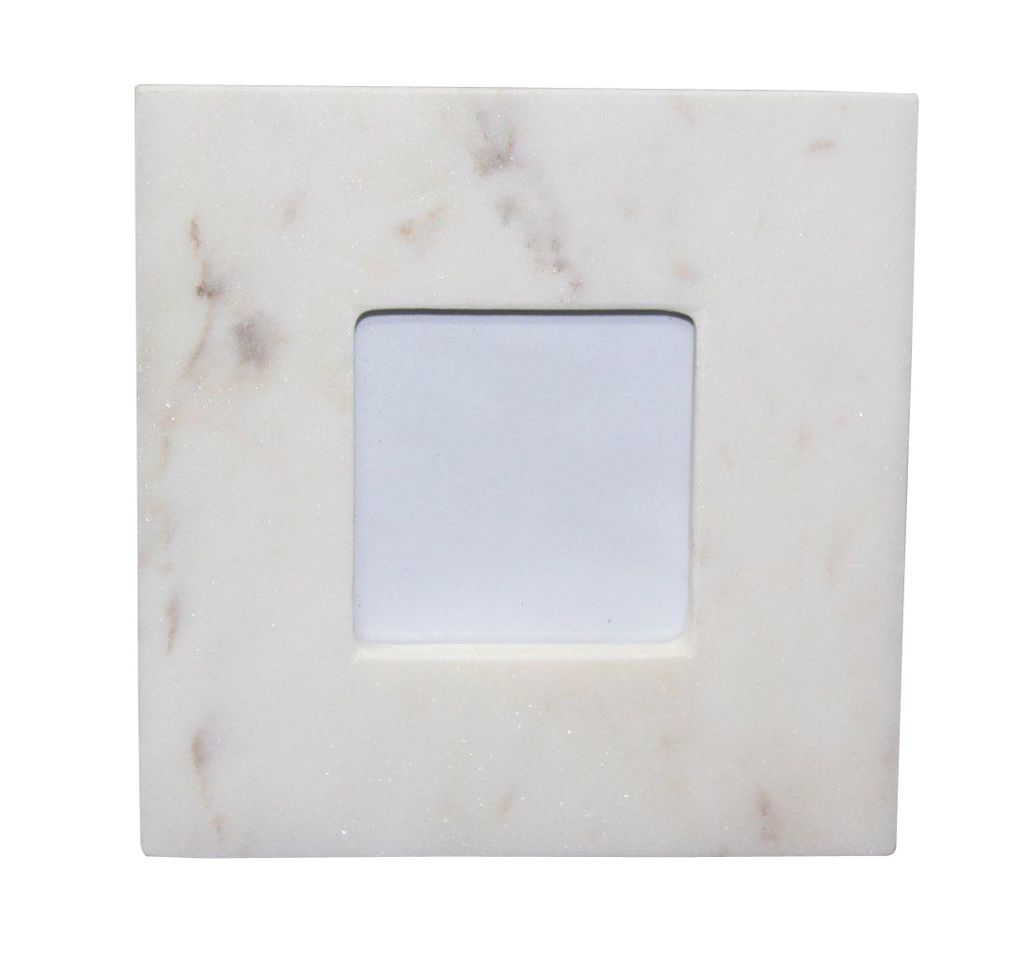Small 3X5 Marble Frame White