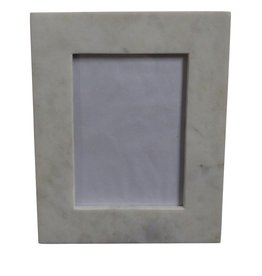 Medium 4X6 Marble Frame White
