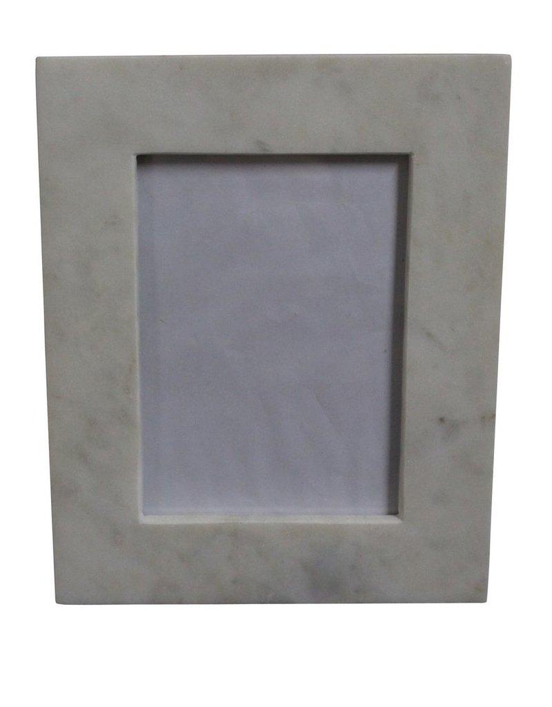BIDK Home Medium 4X6 Marble Frame White