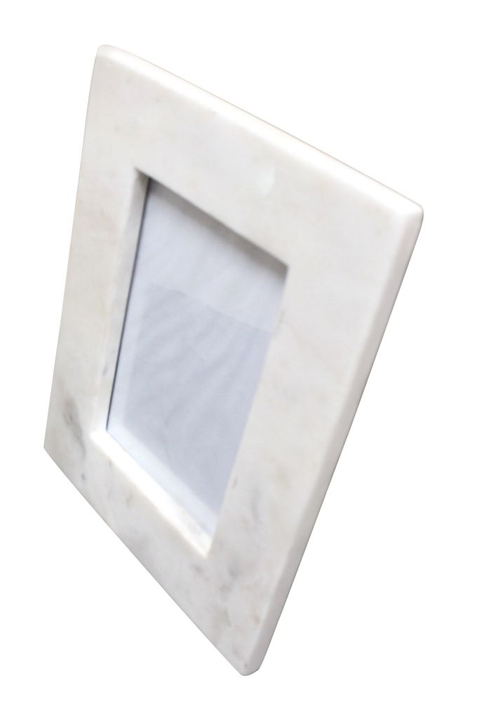 Large 5X7 Marble Frame White