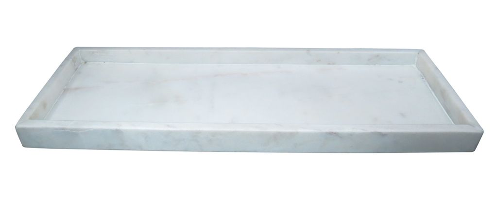 Medium Marble Tray High Wall Agra White