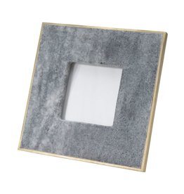Small 3X3 Marble Picture Frame With Brass