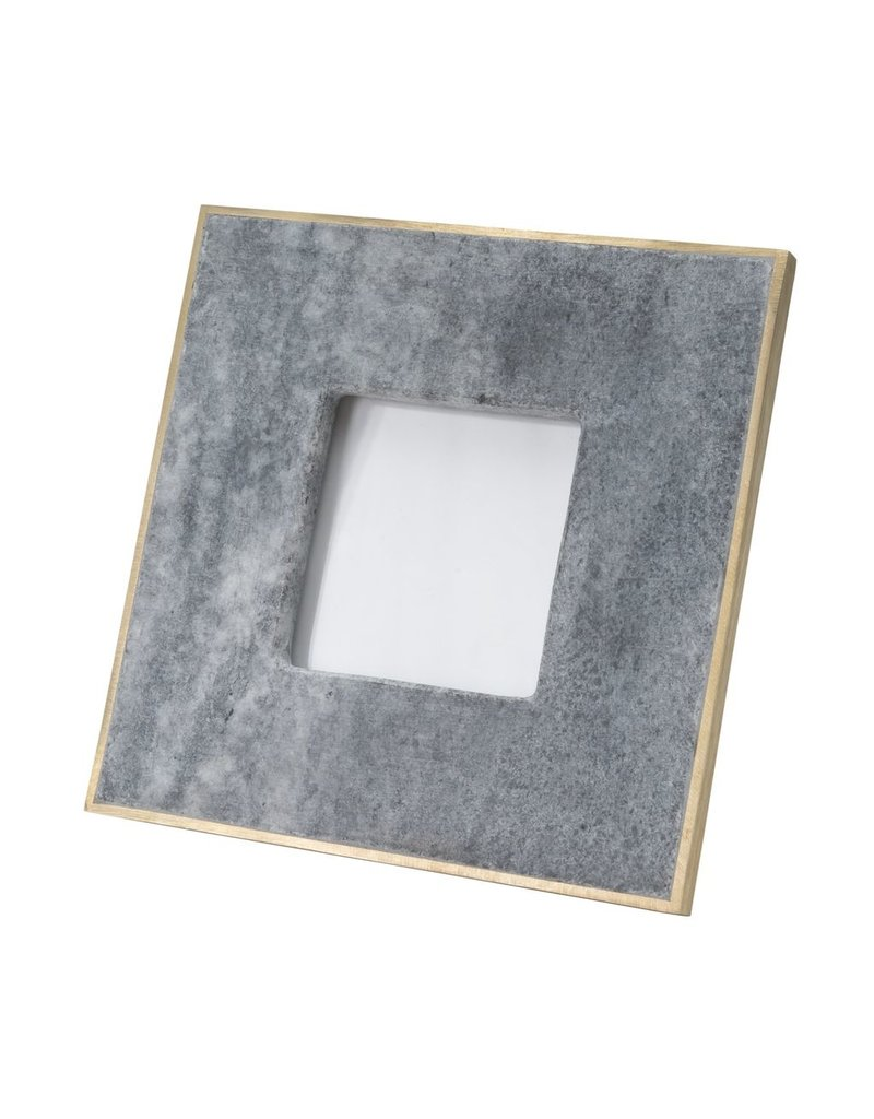 BIDK Home Small 3X5 Marble Picture Frame With Brass