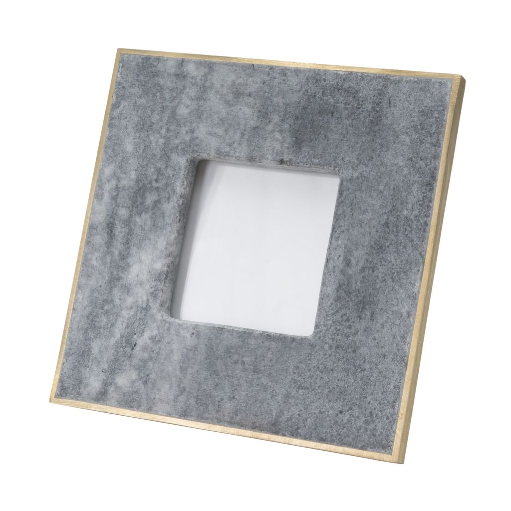 Small 3X5 Marble Picture Frame With Brass