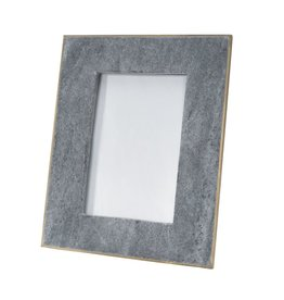 BIDK Home Large 5X7 Marble Picture Frame With Brass - Black