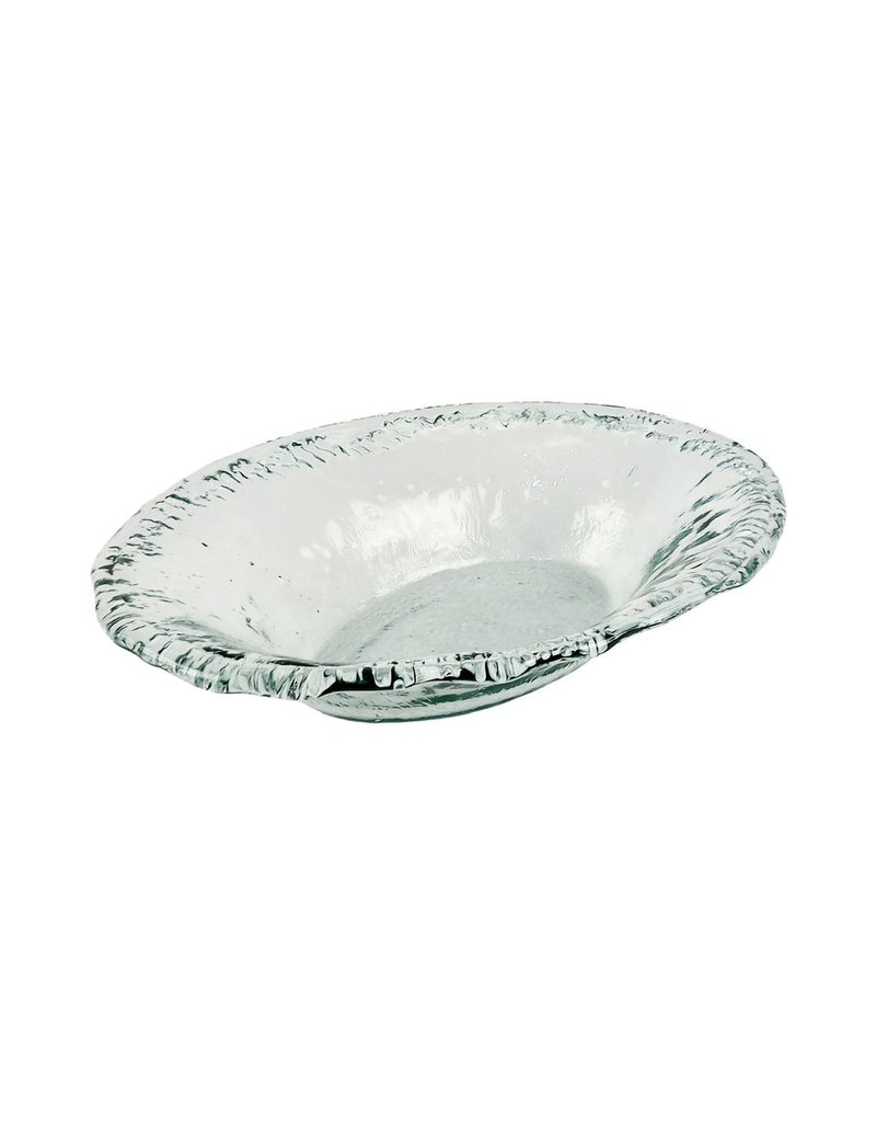 """BIDK Home Large Recycled Glass Oval Dish 20.5"""""""