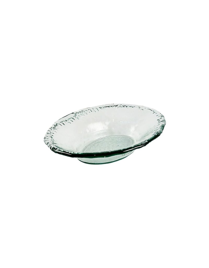 """BIDK Home Small Recycled Glass Oval Dish 16.5"""""""