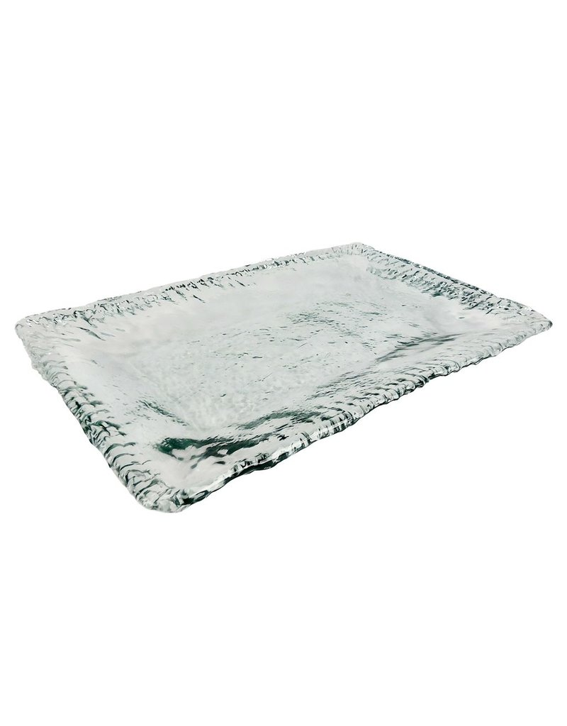 BIDK Home Recycled Glass Square Platter 22""