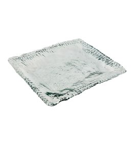 BIDK Home Recycled Glass Square Platter 14""