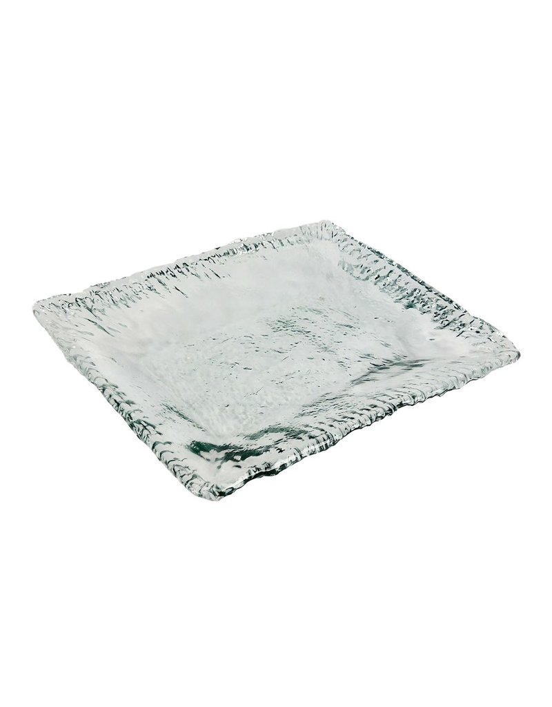 """BIDK Home Recycled Glass Square Platter 14"""""""
