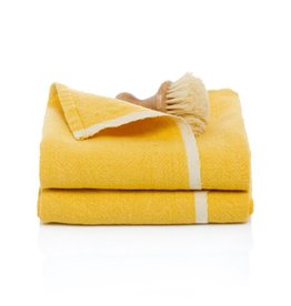 """Couleur Nature Chunky Linen Mustard Hand Towel, 20""""x30"""""""