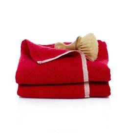 """Chunky Linen Red Hand Towel, 20""""x30"""""""