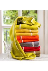 "Chunky Linen Orange Hand Towel, 20""x30"""