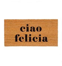 """Coir Floor Mat - """"ciao felicia"""""""