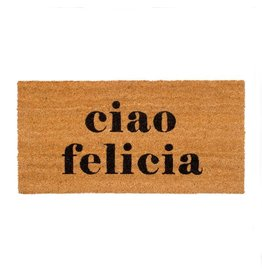 "Couleur Nature Coir Floor Mat - ""ciao felicia"""