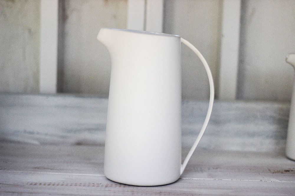 Beyaz Pitcher, White Small