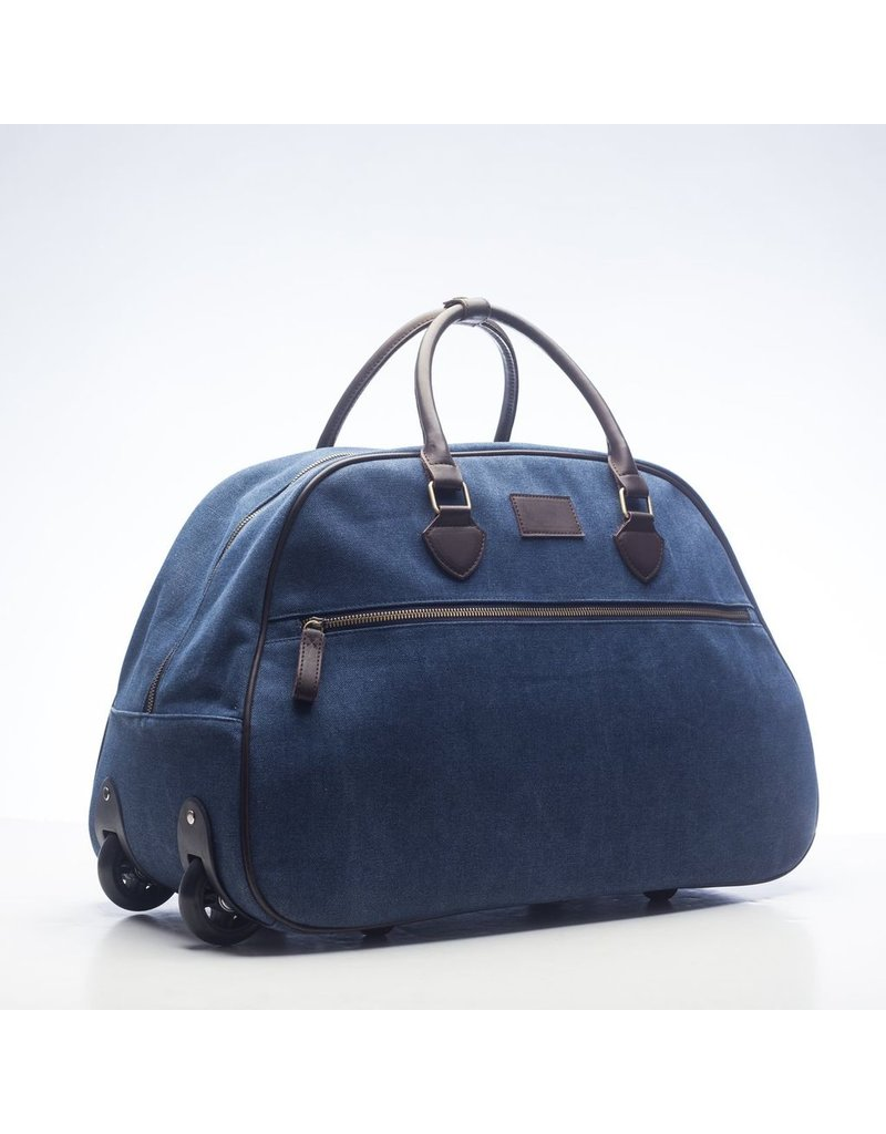 Brouk Excursion Trolley Rolling Duffel, Blue