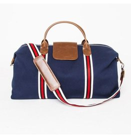 Original Duffel Bag, Navy Blue with Red/Black/White Strap