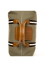 Brouk Original Duffel Bag, Military Green with Black/White Straps