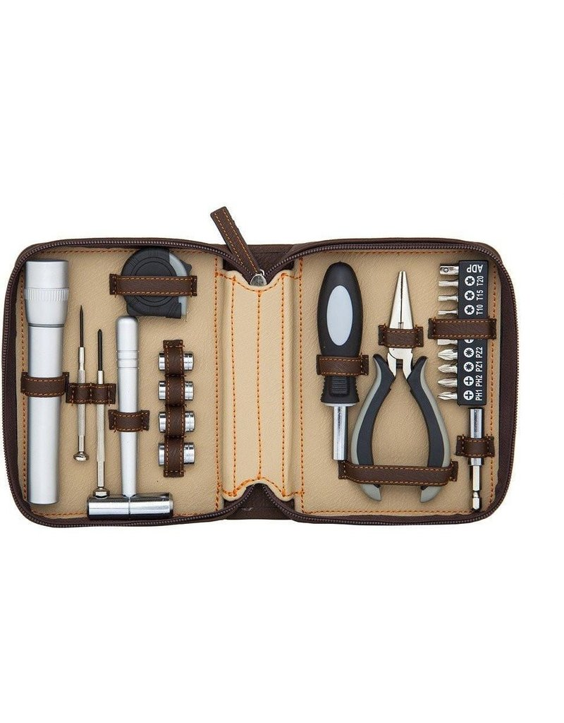 Brouk Fix-It Tool Kit Set - Brown