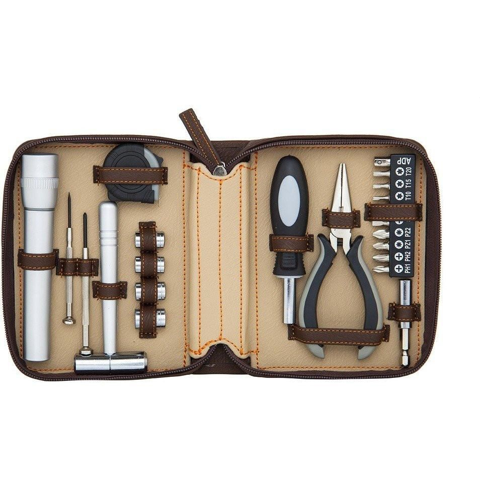 Fix-It Tool Kit Set - Brown