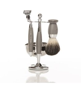 Brouk Roosevelt Shaving Set, Gray
