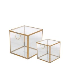 BIDK Home Brass & Glass Box, Large