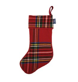 Faribault Woolen Mill Co. STEWART PLAID STOCKING, RED