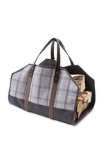 HASTINGS PLAID WOOL LOG CARRIER