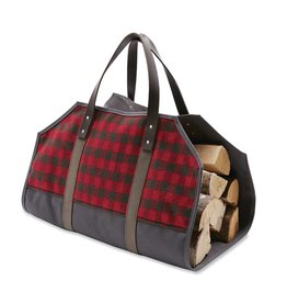 Faribault Woolen Mill Co. MINI BUFFALO CHECK WOOL LOG CARRIER