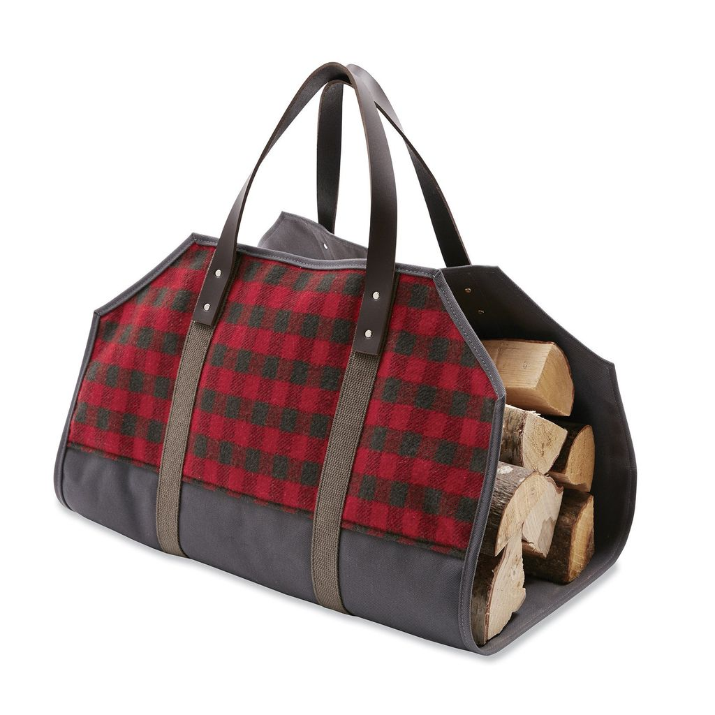 MINI BUFFALO CHECK WOOL LOG CARRIER