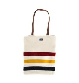Faribault Woolen Mill Co. REVIVAL STRIPE UNSTRUCTURED TOTE, NATURAL